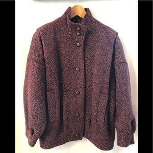 Vintage Karen 100% Wool Ladies' Bomber Jacket